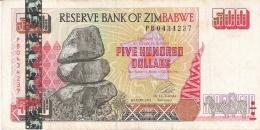 ZIMBABWE   500 Dollars   2001   P. 10   TTB - Zimbabwe