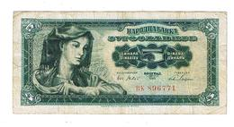 Billet De  Yougoslavie  De   5  Dinars - Yugoslavia