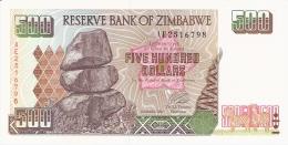 ZIMBABWE   500 Dollars   2001   Sign. L. Tsumba.   P. 11a   UNC - Zimbabwe