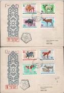 MONGOLIA - FDC YOUNG ANIMALS 1968 Mi 482-489 - Mongolei