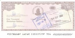 ZIMBABWE   1000 Dollars   2003   Sign.4   Type 1.   P. 15   SUP+ - Zimbabwe