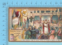 La Croisade - 4 Eme Croisade 1195-1203 , Explication A L'arriere -  Holy Card, Image Pieuse, Santini - 2 Scans - Imágenes Religiosas