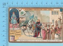 La Croisade - 6eme Croisade Entré De Saint Louis  à Damiette En 1249 -  Holy Card, Image Pieuse, Santini - 2 Scans - Imágenes Religiosas