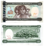 Erythrée - 5 Nafka 1997 (UNC) - Eritrea