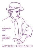 [MD0986] CPM - IN RILIEVO - ARTURO TOSCANINI - XXXIII° ANNIVERSARIO DELLA MORTE - CARTOLINA COMMEMORATIVA - NV 1990 - Cantanti E Musicisti