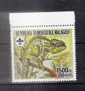 MADAGASCAR - 1988 - Timbre 846 - Caméléon De Nossi-Bé - 1550f - Madagascar (1960-...)