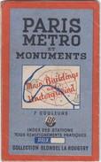 FRANCE PARIS METRO LIGNES MAP ET MONUMENTS - SUBWAY - Europe