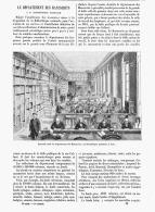 LE DEPARTEMENT DES MANUSCRITS à La BIBLIOTHEQUE NATIONALE De PARIS 1888 - Paris