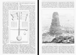 LA TOUR DE BABEL Par KIRCHER  1888 - Archeologia
