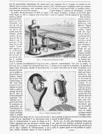 SIGNAUX DE CHEMINS DE FER  ( APPAREILS DE COMMANDE AUTOMATIQUE )   1888 - Ferrovie