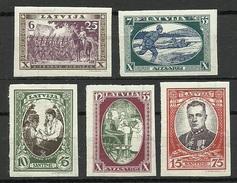 LETTLAND Latvia 1932 Michel 198 - 202 B * - Lettland