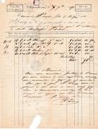 1850 -VILLE FRANCHE (69) - Cotons Filés En Tous Genres - Maison DIVRY & Cie - - Historische Documenten