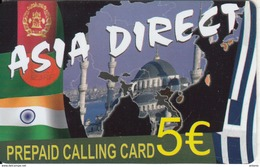 GREECE - Asia Direct Prepaid Card 5 Euro, Sample - Greece