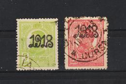 1918  -  Charles I Avec Surcharges 1918 Mi No 238/239 Et Yv No 260/261 - 1918-1948 Ferdinand I., Charles II & Michel