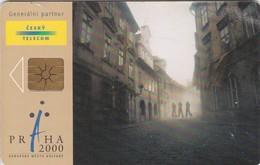 Czech Rep. C305, European City Of Culture 2000 - Prague, 2 Scans.   GEM1B (Not Symmetric White/Gold)