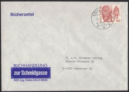 """TI244     Motiv Brief """"Buchhandlung Zur Schmidgasse, Zug/Zugo"""" 1984 - Schweiz"""