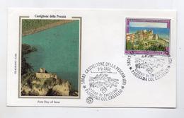 Italia - 1988 - Busta FDC - SERIE TURISTICA - Castiglione Della Pescaia (Gr) - Panorama Col Castello - (FDC4158) - F.D.C.