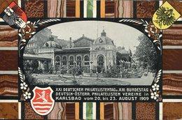 20814 Austria, Stationery Card 1909 Karlsbad Philatelistentag, Thermalbad In Karlsbad - 1850-1918 Empire