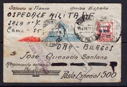"España 1938. Canarias. Carta ""Divisione Mista Frecce"". Censura. - Marcas De Censura Nacional"