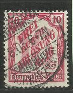 """Deutsches Reich D12 """"10 Pfg. Zähldienstmarken Für Baden  """" Gestempelt  Mi.: 2,50 € - Oblitérés"""