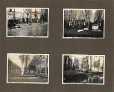 AGEN - MARMANDE - 1930 INONDATIONS CRUE GARAGE RENAULT RUES DEFONCEES  8 PHOTOS SUPERBE DOCUMENT - Autres Communes