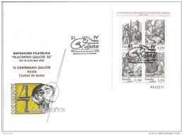 2005-ED. 4161 H.B. IV CENT. DE ´´ EL QUIJOTE ´´EXPO FILATÉLICA ALCALA DE HENARES- SOBRE ESPECIAL EXPO Y MAT. 1er. DIA - FDC