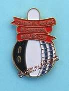 Pin's Compagnie Aérienne CONTINENTAL AIRLINES Bowling Club, Avion - Luftfahrt