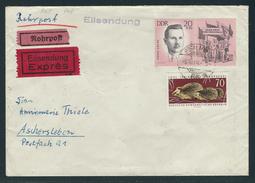 Rohrpost-Eilbrief Mit MiNr. 982 + W Zd 101 BERLIN 66 A 3.10.64 -9 Nach Aschersleben, Portorichtig, Rückseite Stempel, - DDR