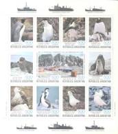 FAUNA ANTARTICA 150 AÑOS DE LA PRESENCIA ARGENTINA EN LAS ISLAS ORCADAS DEL SUR SOUTH ORKNEYS BLOQUE HOJITA BLOC - Postzegels