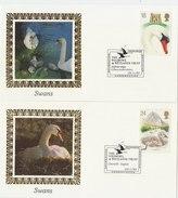 UNITED KINGDOM 1993 Postcards BENHAM With Swans (5)LIMITED EDITION!!