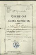 CERTIFICAT DE BONNE CONDUITE 19 EREGIMENT D ARTILLERIE 1ER CANONIER  CONDUCTEUR - Documents