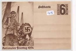 Philatélie -Allemagne - Postkarte  Entier  Postal Nationaler Feiertag 1934 - Germany