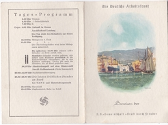 Seereise Der N.S.-Gemeinschaft -Kraft Durch Freude- Speisekarte Vom 5.Februar 1939- - Menükarten