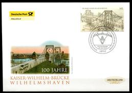 """First Day Cover Germany 2007 Mi.Nr.2616 Ersttagsbrief""""brücken-Kaiser-Wilhelm-Brücke,Wilhelmshaven"""" 1 FDC - Brücken"""