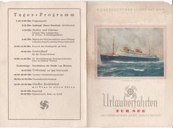 Urlauberfahrt Zur See  Der N.S.-Gemeinschaft -Kraft Durch Freude- Speisekarte Vom 31.Januar 1939- - Menükarten