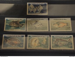 MALI - 1960 PESCI 7 VALORI - NUOVI(++) - Mali (1959-...)