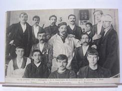 """62 - LES 13 PREMIERS HEROS """"RESCAPES"""" DE LA CATASTROPHE DE COURRIERES AORES 20 JOURS DANS LA MINE - 1908 - Andere Gemeenten"""