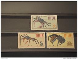 NIUE - 1970 CROSTACEI 3 VALORI - NUOVI(++) - Niue