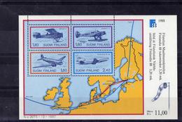 Finlande Bloc De 4 Timbres Avions