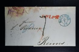 Germany Complete Letter  Hannover  U.P.A.3 R -> Reims France 1856 - Allemagne