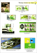 2 Color Pages - Philatelic Magazine - EUROPA - ECOLOGY - Think Green - 2 Scans - Europa-CEPT