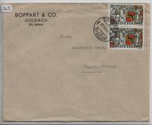 1941 750 Jahre Bern 253/398 2x Auf Brief Von Goldach (SG) Mit Vignette Altstoffe Sammeln Ist Nationale Pflicht - Covers & Documents
