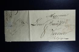 Germany Complete Letter  Bielefeld -> Verviers 1820   Border Cancel Henri Chapelle - Deutschland