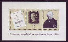 GERMANIA - 2. Internationale Briefmarken-messe Essen 1978 BF Nuovo** - BRD