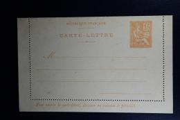 France: Carte-Lettre Mouchon 15 C   1901 B1 - Postal Stamped Stationery