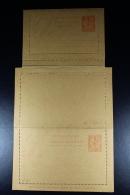 France: Carte-Lettre Mouchon 15 C   1901 B4  Avec Response Payee  Not Used - Enteros Postales