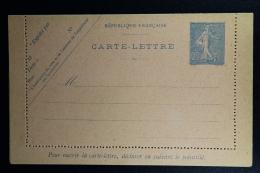 France: Carte-Lettre  Semeuse 25 C   C1  1905  Not Used - Enteros Postales