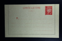 France: Carte-Lettre  Petain 1F  Type C1  Not Used - Postal Stamped Stationery