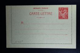France: Carte-Lettre  Iris  1F  Type B1  Not Used - Enteros Postales
