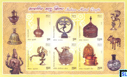 India Stamps 2016, Metal Crafts, MS - India